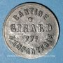 Münzen Cholet (49). Cantine GIRARD - 77e d'Infanterie. 5 centimes
