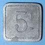 Münzen Cholet (49). Cantine GIRARD - 77e d'Infanterie. 5 francs