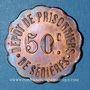 Münzen Clergoux (19). Dépôt de Prisonniers de Sédières. 50 centimes