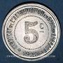 Münzen Hérault (34). Syndicat de l'Alimentation en Gros. 5 centimes 1922, type fauté avec HERAUT