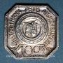 Münzen Thann (68). Ville. 10 centimes 1918. Argent