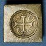 Münzen Espagne. Poids monétaire de la quadruple pistole de Charles Quint milieu du XVIIIe