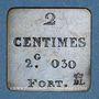 Münzen France. Poids étalon de la 2 centimes, poids fort