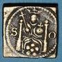 Münzen Grande Bretagne. Poids monétaire du quart de souverain daté de 1615 et fabriqué aux Pays Bas