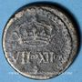 Münzen Henri III (1574-1589). Poids monétaire du quart d'écu