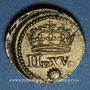 Münzen Louis XIII (1610-1643). Poids monétaire du quart de franc