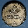 Münzen Pays Bas du Sud. Poids monétaire de la daldre de Bourgogne ou patagon de Philippe IV (1621-1665)