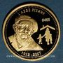 Münzen Abbé Pierre (1912-2007). Médaille or 18 mm.