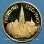 Münzen Allemagne. Fribourg. Médaille or. 20 mm. 850e anniversaire 1120-1970