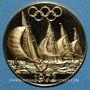 Münzen Allemagne. J.O. 1972. Régates de Kiel. Médaille or. 26 mm