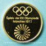 Münzen Allemagne. J.O. de Munich 1972. Médaille or officielle. 23 mm