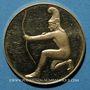 Münzen Allemagne. Jeux Olympiques de Munich 1972. Médaille officielle du Comité. Or. 22,5 mm. Tir à l'arc