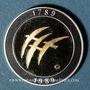 Münzen Bicentenaire de la révolution 1789-1989. Médaille bimétallique or avec cerclage argent