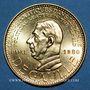 Münzen Charles de Gaulle. Médaille or module de 20 francs 1980. 40e anniversaire de l'appel du 18 juin 1940