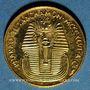 Münzen Egypte. Nefertiti et Toutânkhamon. Médaille or. 999 /1000. 1,76 g