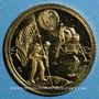 Münzen Etats Unis. Aldrin, Armstrong et Collins. 1er alunissage 1969. Médaille or. 15 mm