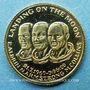 Münzen Etats Unis. Aldrin. Armstrong et Collins. 1er alunissage 1969. Médaille or. 15 mm