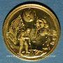 Münzen Etats Unis. Aldrin. Armstrong et Collins. 1er alunissage 1969. Médaille or. 999 /1000. 1,75 g
