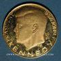 Münzen Etats Unis. John F. Kennedy (+ 22.11.1963). Médaille or. 26,15 mm. 900 /1000. 10,47 g.