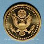Münzen Etats Unis. John F. Kennedy. (+ 22.11.1963). Médaille or. Module 20 francs. 1983. 1000/1000. 6,45 g.