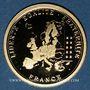 Münzen France. 10e anniversaire de l'euro - 2012. Médaille en or. 585 /1000. 2,01 gr