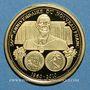 Münzen France. 50e Anniversaire du Nouveau Franc - 2010. Médaille en or. 585 /1000. 2 g