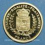 Münzen France. 65e Anniversaire de la Libération -2010. Médaille en or. 585 /1000. 2 g