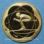 Münzen France J.O. d'hiver à Grenoble. 1968. Médaille or. 15,5 mm