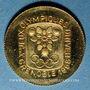 Münzen France. J.O. d'hiver à Grenoble. 1968. Médaille or. 999 /1000. 1,76 g