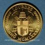 Münzen Jean Paul II. Visite à Lourdes. 1981. Module de 20 francs. Médaille or. 1000 /1000. 6,45g.