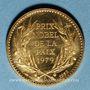 Münzen Mère Thérésa. Médaille or. Module 20 francs. 1983. 1000/1000. 6,45 g.