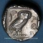 Münzen Attique. Athènes (vers 415-407 av. J-C). Tétradrachme