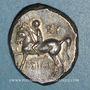 Münzen Calabre. Tarente.  Alliance avec les Romains, vers 272-235 av. J-C. Didrachme