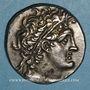Münzen Egypte. Ptolémée XII Néos Dionysos (80-51 av. J-C). Tétradrachme. Alexandrie an 8 (= 74-73 av. J-C)