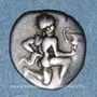 Münzen Iles de Thrace. Thasos (vers 411-350 av. J-C). Trihémiobole