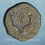 Münzen Judée. Alexandre Jannée (103-76 av. J-C). Petit bonze (prutah). Jérusalem