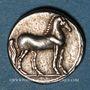 Münzen Monnayage italo-punique (Calabre, Locres(?). 1/4 de shekel 213-203 av. J-C
