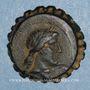 Münzen Royaume de Syrie. Démétrius I Soter (162-150 av. J-C). Chalque dentelé. Antioche sur l'Oronte