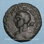 Münzen al-Jazira. Zenguides de Sinjar. Qutb al-Din Muhammad (594-616H).  Dirham bronze 596H, Sinjar