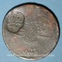 Münzen Balkans. Ottomans. Ile de Yunda (proche de Lesbos). Bronze, 20 Para 1255H/ An 21, contremarqué, daté