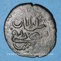 Münzen Maghreb. Ottomans. Mustafa III (1171-1187H). Burbe bronze 1176H. Tunis