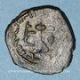 Münzen Syrie. Monnayage arabo-byzantin. Umayyades. 'Abd al-Malik (65-86H). Fals au calife debout, Alep