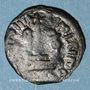 Münzen Syrie. Monnayage arabo-byzantin. Umayyades. 'Abd al-Malik (65-86H). Fals au calife debout, Homs