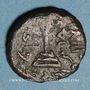 Münzen Syrie. Monnayage arabo-byzantin. Umayyades. 'Abd al-Malik (65-86H). Fals au calife debout, Qurus