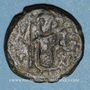 Münzen Syrie. Monnayage arabo-byzantin. Umayyades. Epoque Mu'awiya (41-60H). Fals bilingue, Damas