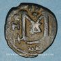 Münzen Syrie. Monnayage arabo-byzantin. Umayyades. Epoque  Mu'awiya (41-60H). Fals bilingue, Emèse