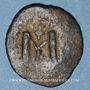 Münzen Syrie. Monnayage arabo-byzantin. Umayyades. Epoque  Mu'awiya (41-60H). Fals bilingue