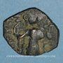 Münzen Syrie. Monnayage pseudo-byzantin (638-c.670). Follis, figure impériale debout tenant une longue croi