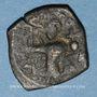 Münzen Syrie. Monnayage pseudo-byzantin (638-c.670). Follis, figure impériale debout