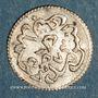 Münzen Tunisie. Ottomans. Abdoul Mejid (1255-1277H) avec Muhammad Bey. 2 kharub 1273H. Tunis